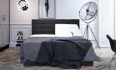 Boxspring luxury elektrische monaco zwart setting
