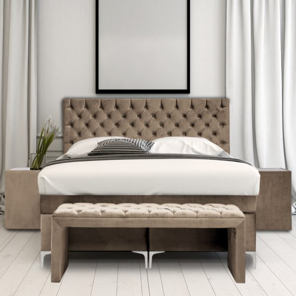 Boxspring barones taupe